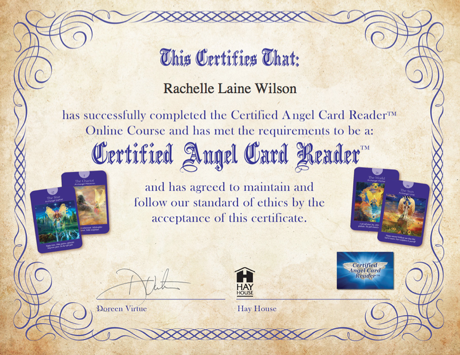 Certified Angel Card Reader Certificate
