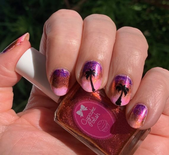 Sunset Nails Using Cupcake Polish